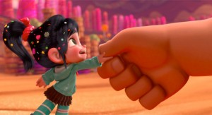 Ralph (hand) and Vanellope