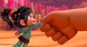 Ralph (hand) and Vanellope